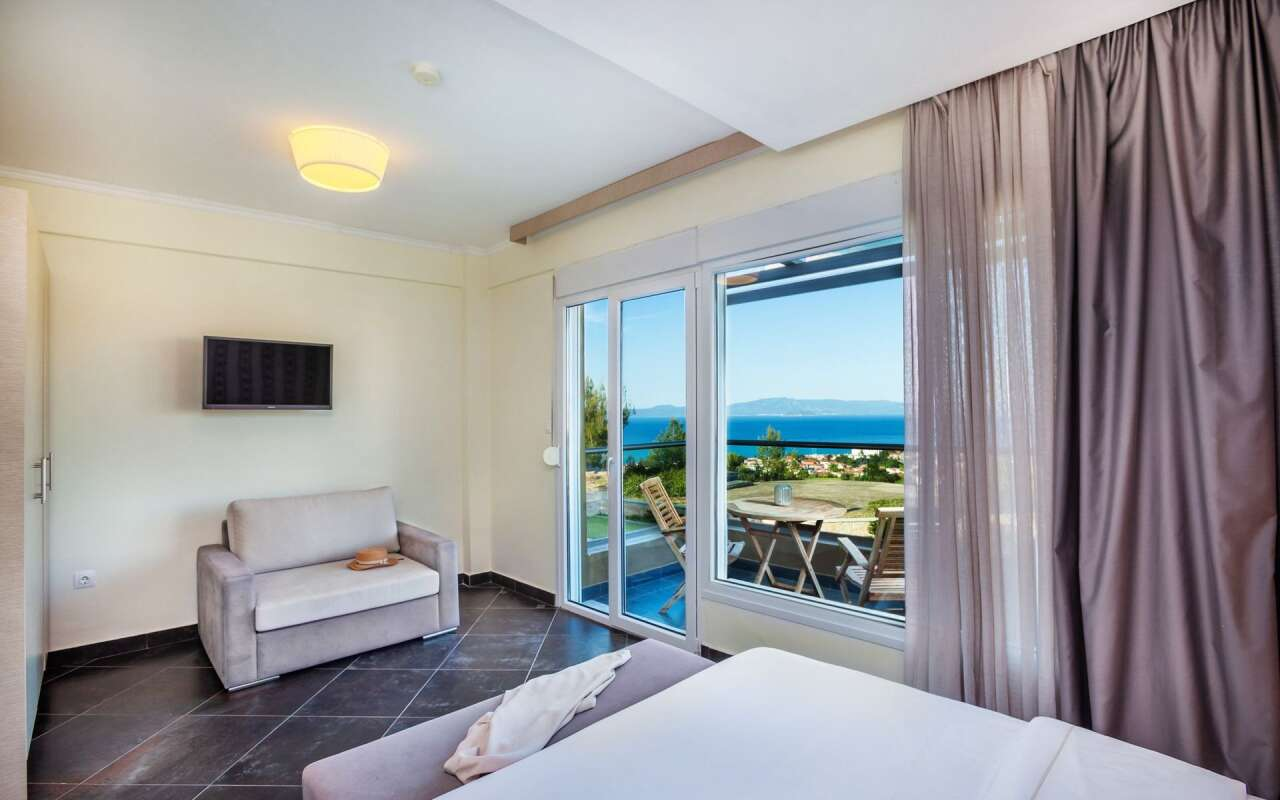 Sunny Grande Sea View Villa, Chanioti