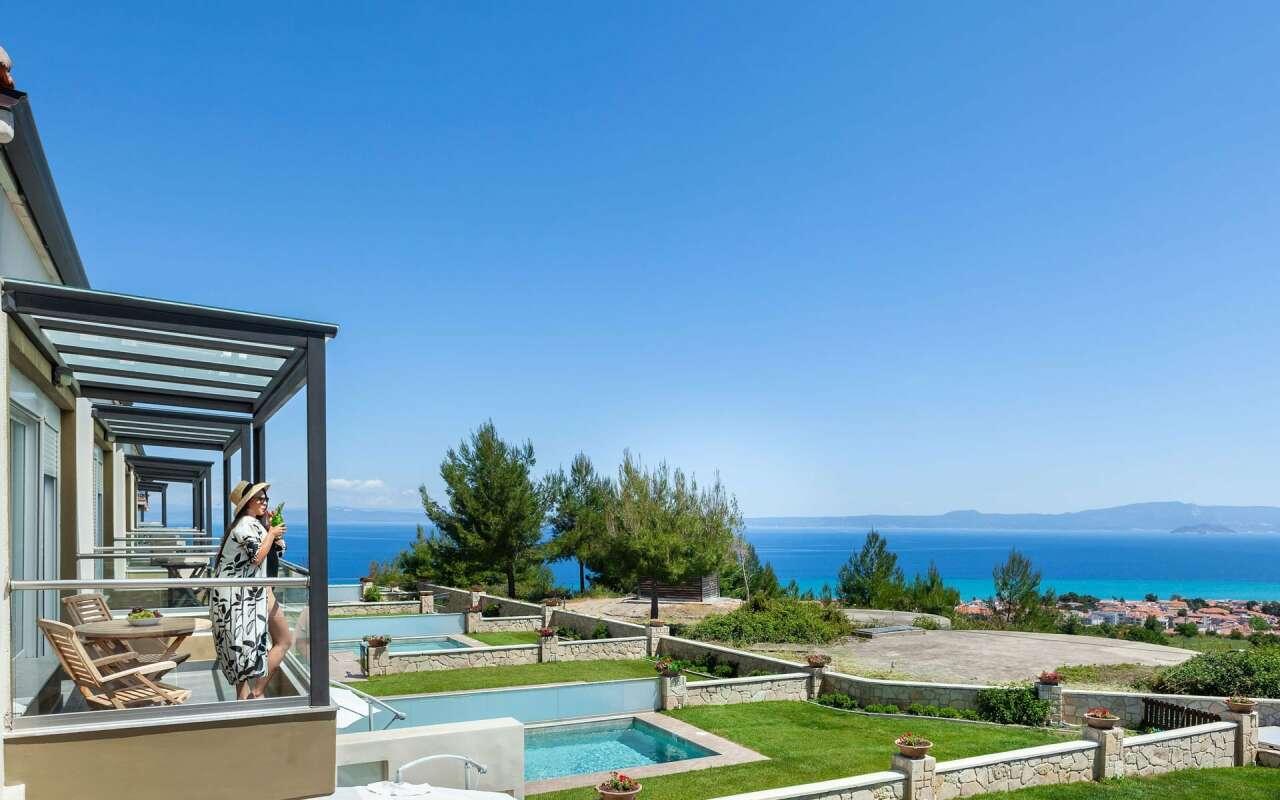 Sunny Amazing Sea View Villa, Chanioti