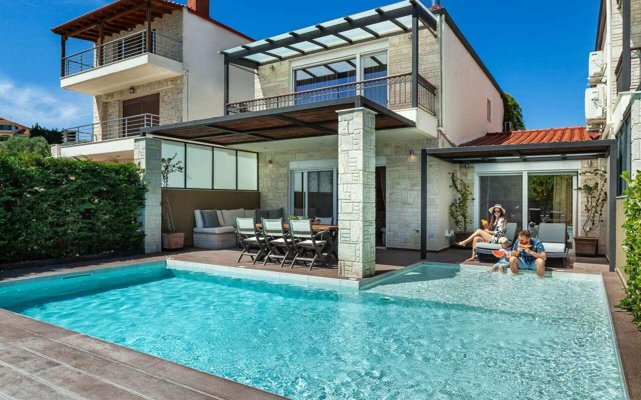Sunny Exclusive Family Villa, Chanioti