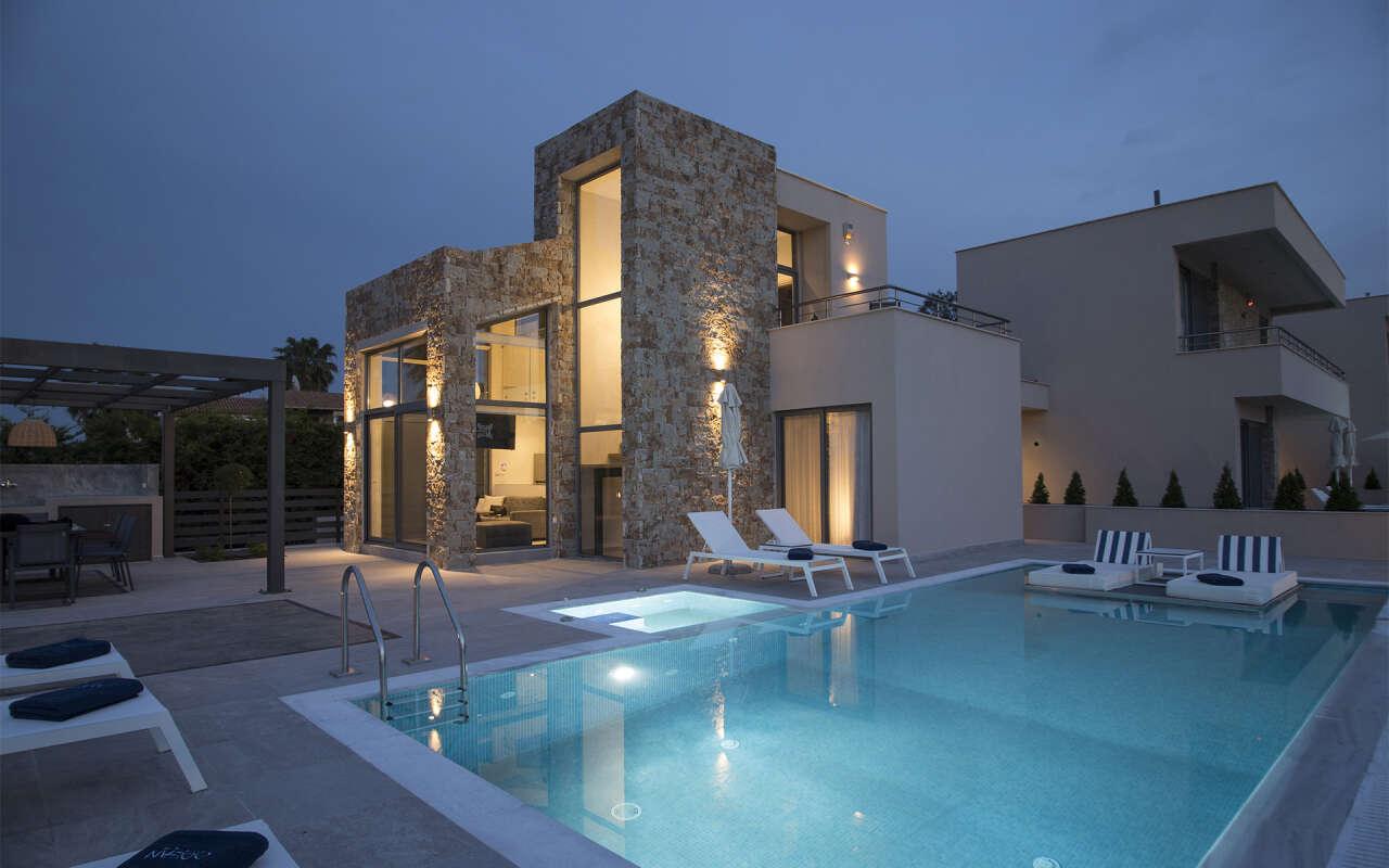 Ocean Villa Calypso with private pool, Pefkohori